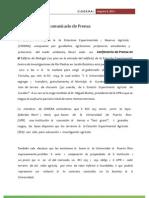 CODERA- COMUNICADO DE PRENSA (8 de agosto de 2012)