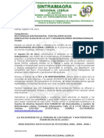 Sintraimagra Lebrija Exige respeto a la organización sindical y sus 120 afiliadxs