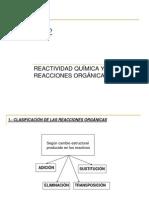 Reactividad en Organica