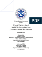 Privacy Pia Dhswide Unidirectionalsocialmedia DHS Privacy Documents for Department-wide Programs 08-2012