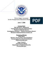 Privacy Pia Tsa Tiss DHS Privacy Documents for Department-wide Programs 08-2012