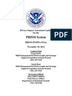 Privacy Pia Update Dhs Wide Prism DHS Privacy Documents for Department-wide Programs 08-2012