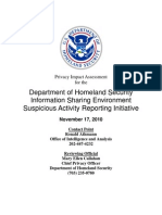 Privacy Pia Dhswide Sar Ise DHS Privacy Documents for Department-wide Programs 08-2012