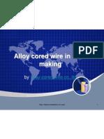 Cored Wire in Steel Making