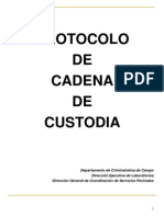 Protocolo de  Cadena de Custodia
