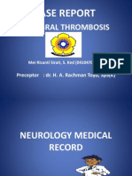Cerebral Thrombosis