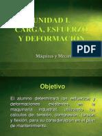 I. Carga - Esfuerzo - Deformacion