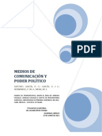 ENSAYO. MEDIOS DE COMUNICACIÓN Y PODER POLÍTICO