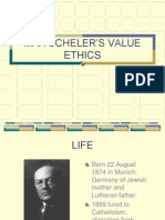 Max Schelers Value Ethics