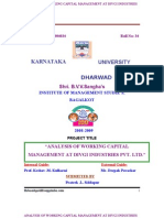 A Project Report on Analysis of Working Capital Management