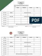 Ict Programs Schedule and Program Templates