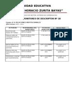 Informe Descriptor # 18