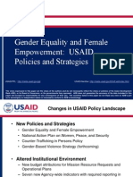 Gender Equality and Female Empowerment