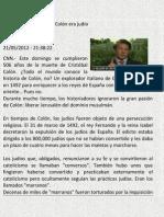 Investigación Cristobal Colon era judio