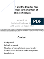 Viet Nam and the Disaster Risk Management in the Context of Climate Changes by Vu Manh Loi