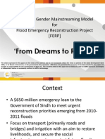 Evolving a Gender Mainstreaming Model for Flood Emergency Reconstruction Project [FERP] by Shahnaz Kapadia Rahat