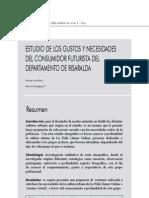 10. Estudios de Los Gustos y Necesidades Del Consumidor Futurista