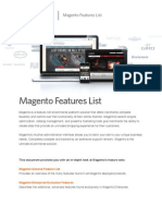 Magento Feature List