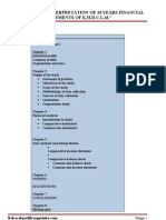 A Project Report on Analysis and Interpretation of 10 Years Financial Statements