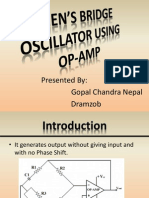 WIEN'S BRIDGE OSCILLATOR USING OP-AMP