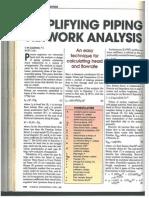 Simplifying Piping Network Analysis - April 1995