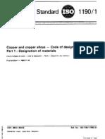 ISO 1190-1-1982 Copper and Copper Alloys-Code of Designation-Part 1 Designation of Materials
