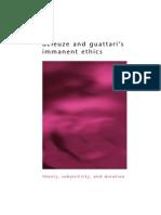 Deleuze Guattari Immanent Ethics