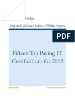 15TopPayingITCertifications for 2012