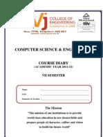 7 Sem Course Diary