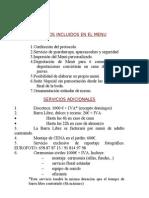 MENÚS Y CÓCTEL 2013 nuevos