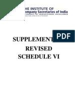 Revised Schedule VI - ICSI
