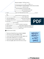Present Perfect vs Past Simple NET