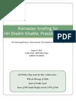 HH Sheihk Khalifa Briefing Ramadan August 5th 2012