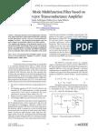 Novel Voltage Mode Multifunction Filter based on Current Conveyor Transconductance Amplifier