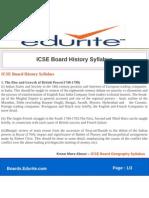 ICSE Board History Syllabus