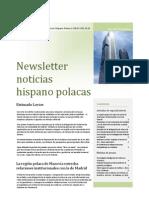 Newsletter Camara Comercio Hispano Polaca Primavera 2012