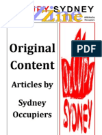 OccupySydneyZine 2012 Original Content Articles