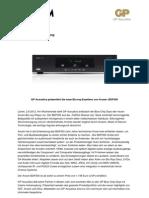 GP Acoustics präsentiert die neue Blu-ray-Exzellenz von Arcam