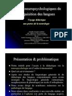 Acquisition Des Langues JacquetAndrieu 6juillet2012