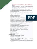 Ph D rules