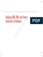 Analyzing DNA RNA and Protein
