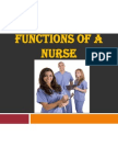 Functions of a Nurse