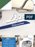 Katalóg motorovej trojkolky Piaggio Ape Calessino 2009 anglická verzia