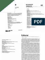 Los Estudios de Genero Entre La Gettoizacion y La Ruptura Epistemologica