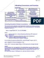 Air Dispersment Formulas