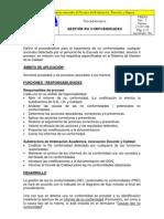 Gestion No Conformidades PR8301