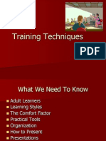 Adult Learner Training Techniques