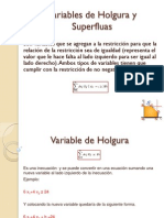 Variables de Holgura y Superfluas