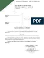 Doc. 157 -- Clerk's Entry of Default - Jon Divens