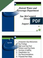 DWSD Restructuring Presentation - August 8, 2012